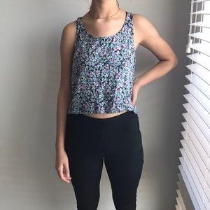 Crop top flowy blouse